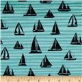 By the Sea Sail Away Wave Black/Turquoise