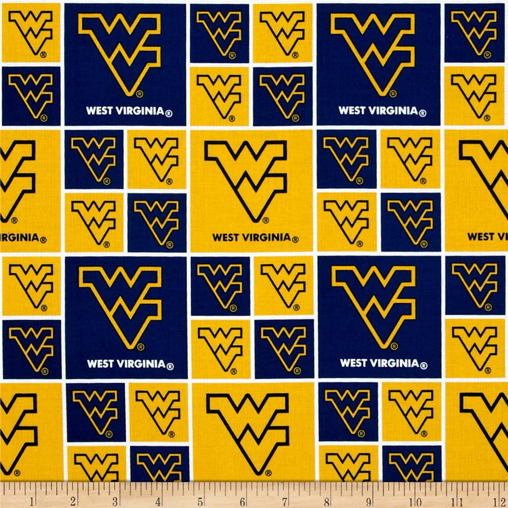 Collegiate Cotton Broadcloth West Virginia University