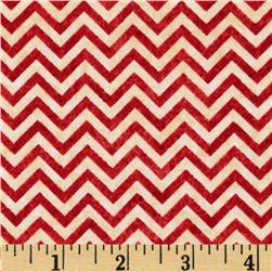 Heart Strings Small Chevron Red/Cream