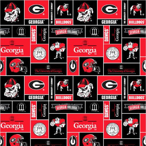 Collegiate Fleece University of Georgia Blocks
