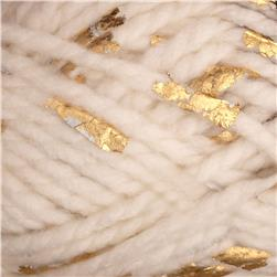 Lion Brand Yarn Gold Leaf White Gold