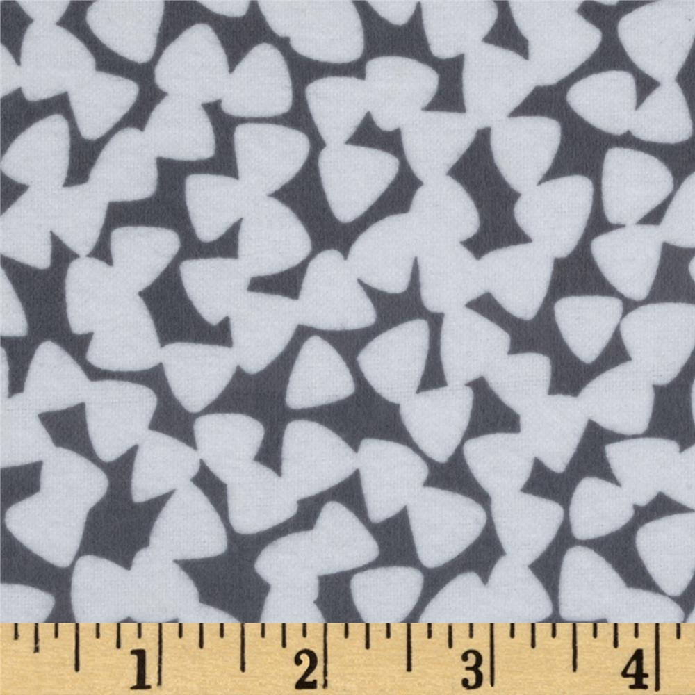 Michael Miller Pastel Pop Citron Gray Flannel Tiny Guitar Picks Grey