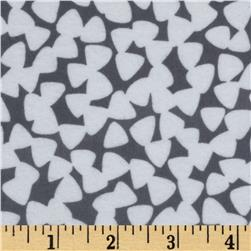 Michael Miller Pastel Pop Citron Gray Flannel Tiny