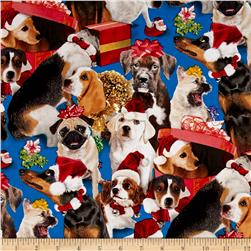Christmas Pets Dogs Blue