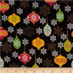 Cozy Christmas Ornaments Black