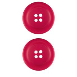 Riley Blake Sew Together 1 1/2'' Matte Round Button Hot Pink