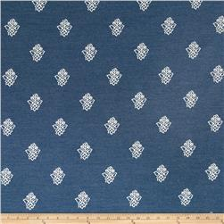 Robert Allen Sunbrella Simple Array Floral Indigo