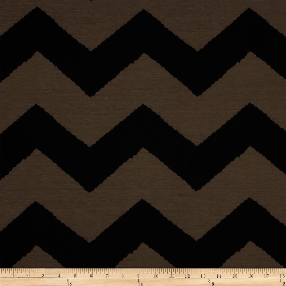 Fashionista Jersey Knit Large Chevron Brown/Black