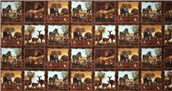 Plains of Africa Block Panel Brown