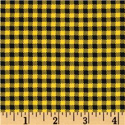 Sew Bee It Check Yellow/Black