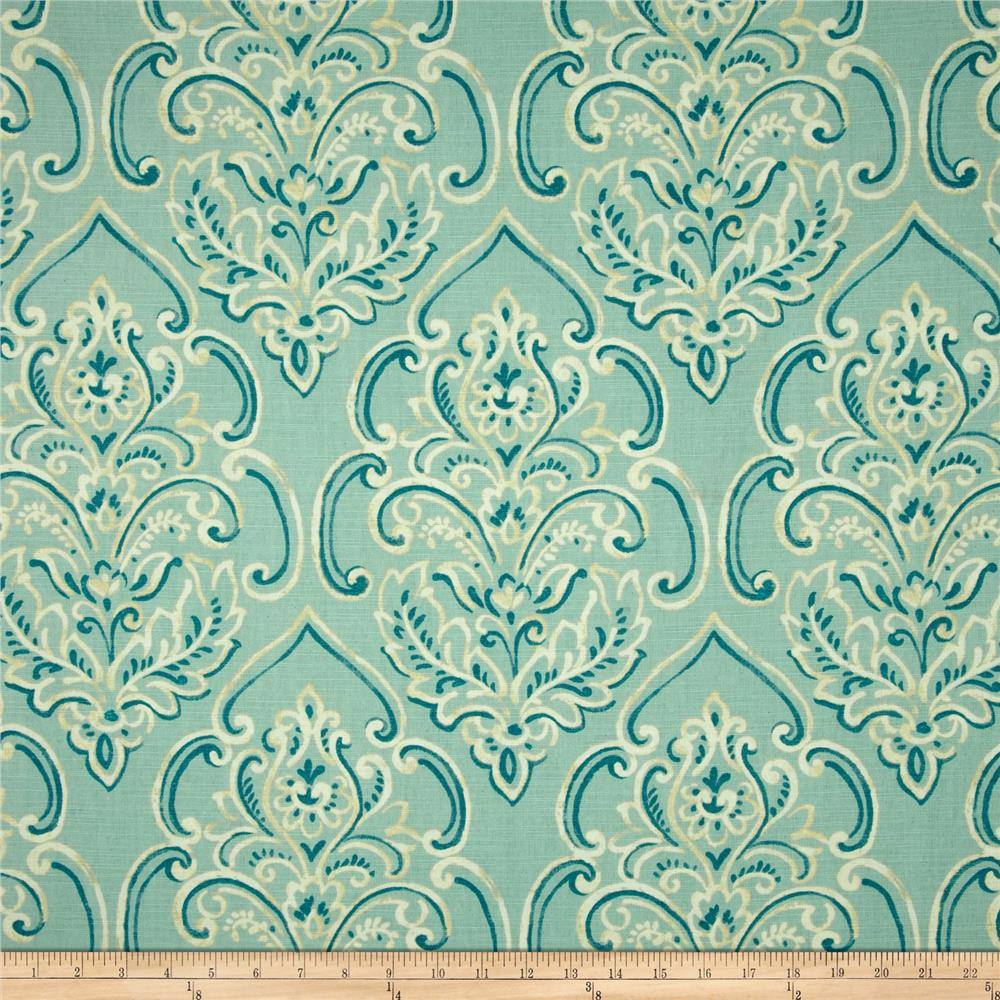 Duralee Home William Damask Baby Blue