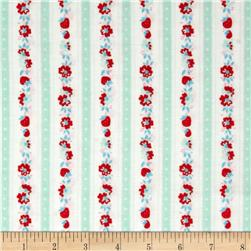 Penny Rose Milk, Sugar & Flower Milk Stripe Mint