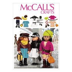 "McCall's Clothes and Accessories for 18"" Doll Pattern M6804 Size OSZ"