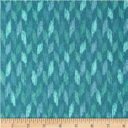 Ibiza Broken Chevron Blue Fabric