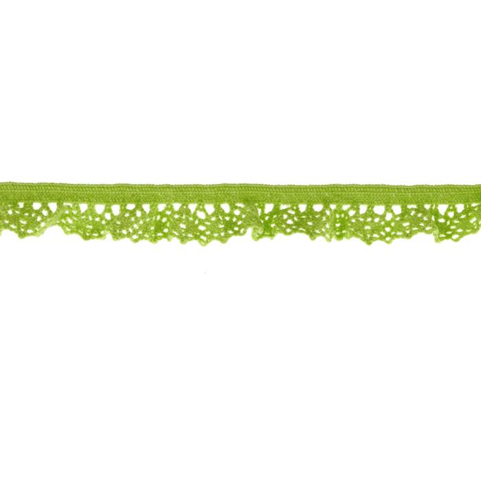 "Riley Blake Sew Together 1/2"" Elastic Crocheted Lace Lime"