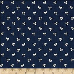 Blueberry Buckle Maple Leaves Light Navy