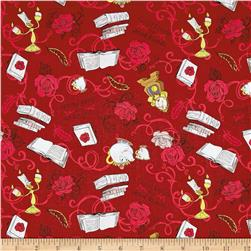 Disney Beauty and the Beast Friends Dark Red