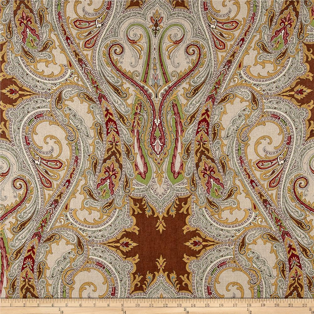 Clarence House Babylon 100% Linen Brown