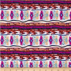 Stretch ITY Jersey Knit Aztec Multi-Jade/Purple/Black