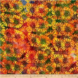 Island Batik Sunflower Orange/Multi