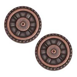 Metal Button 7/8'' Closed Wheel Copper