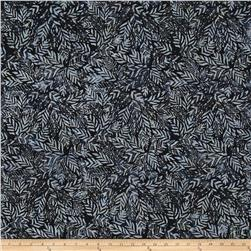 Wilmington Batiks Long Leaves Charcoal
