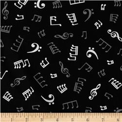Kaufman In Tune Music Notes Black