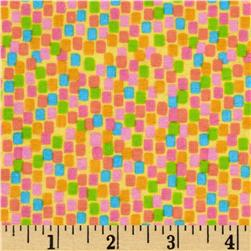 Parfait Flannel Square Dots Banana