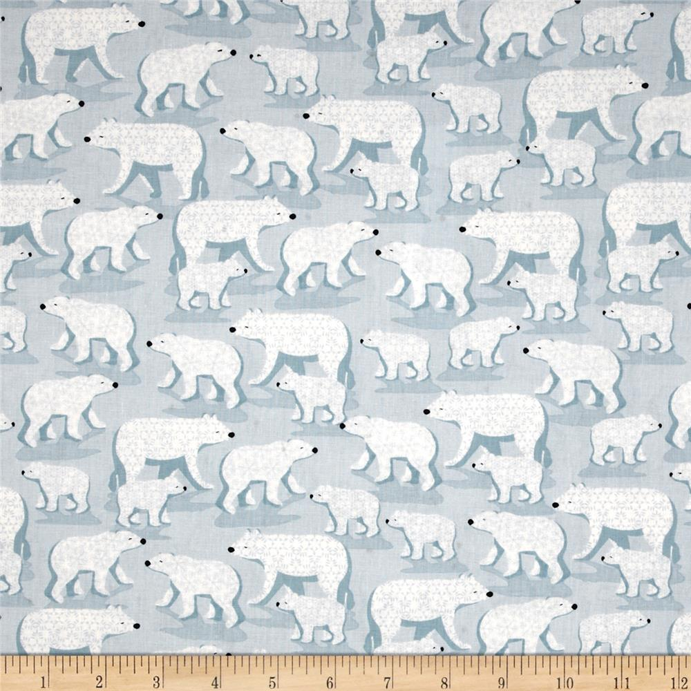 Winter Frost Polar Bears Light Blue