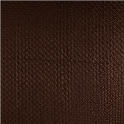 Luxury Faux Leather Perforated Basket Bronze