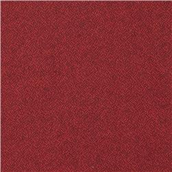 Kaufman Shetland Flannel Textured Solid Red Fabric