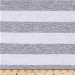 "Yarn Dyed Jersey Knit 1"" Stripe Smoke"