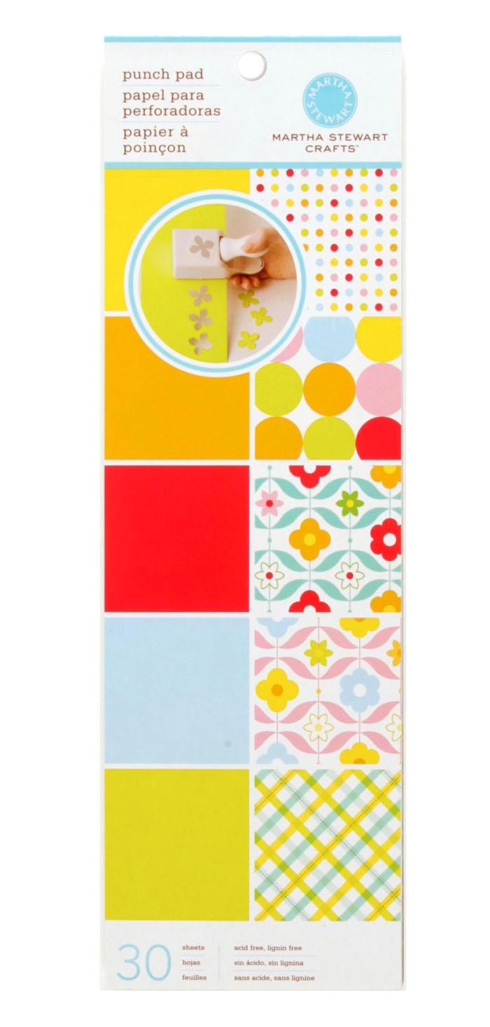 "Martha Stewart Crafts Punch Pad 4"" X 12"" Brights"