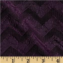 Jane Chevron Double Knit Plum