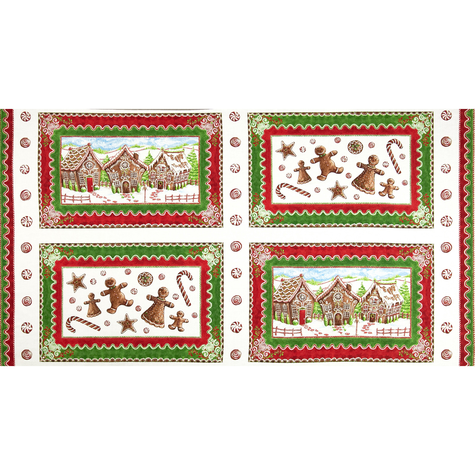 Gingerbread christmas wallhanging panels multi discount