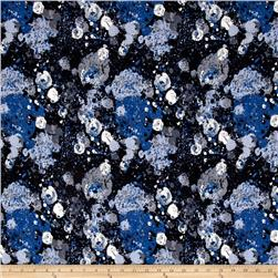Jersey Knit Micro Galactic Shapes Royal Blue