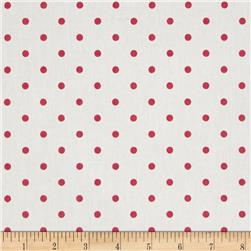 Premier Prints Mini Dots Twill White/Candy Pink
