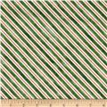 Home For The Holidays Stripe Green