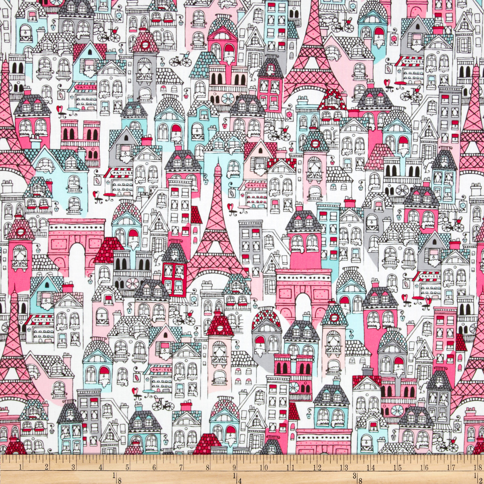Mon Amie French Village Blush Fabric