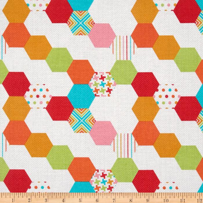 Michael Miller Textured Basics Hexies Multi