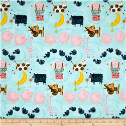 Comfy  Flannel Nursery Rhyms Blue