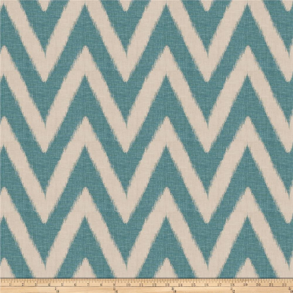 Fabricut Shelton Chevron Teal