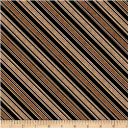 Sew Curious Diagonal Stripe Black