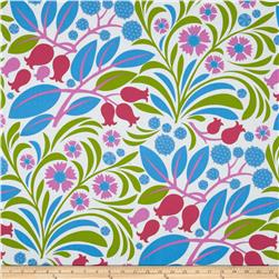 Gregory's Garden Blossoms & Berries Fuchsia Fabric