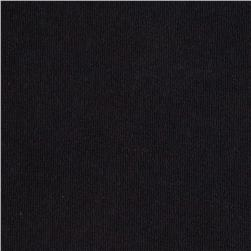 Stretch French Terry Knit Smoky Black