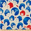 Cotton + Steel Fruit Dots Canvas Dottie Cobalt