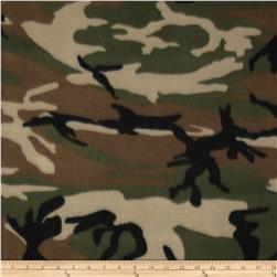 Fleece Woodland Camouflage Green