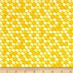 Timeless Treasures Honeycomb Yellow