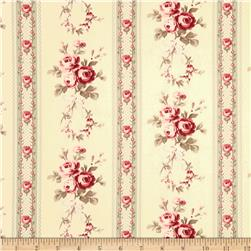Tanya Whelan Petal Home Decor Sateen Antique Ticking Rose Ivory