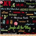 Peppermint Twist Christmas Words Black